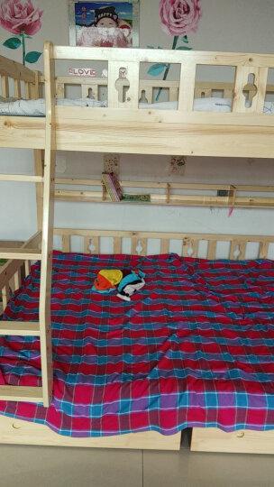 雅霏-儿童床高低床子母床上下床双层床松木床上下铺实木床双人床成人床 清漆-上1.1/下1.3米 晒单图