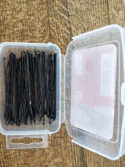 韩版黑色一字夹套装发夹小黑夹子钢铁夹刘海边夹发卡头发饰 盒装波浪大号6cm 约24根 晒单图