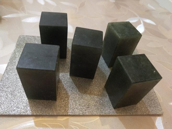 金石印坊 墨绿冻平头方章 多种规格 篆刻印章练习石 整盒出售 5枚装3.0X3.0X5CM 晒单图