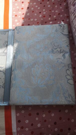 富安娜家纺 凉席冰丝席子双面空调席三件套 夏季双人可折叠防滑绑带提花席 夏日清风 1米8床 蓝色 晒单图