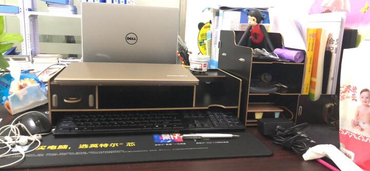 酷奇(cooskin) 台式电脑桌上显示器架增高架子桌面键盘隐藏架显示屏托架支架底座 黑色-收纳架 晒单图