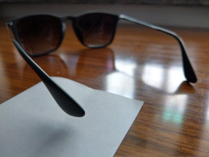 RayBan 雷朋太阳眼镜方形舒适简约潮流渐变色0RB4187F 6315E8茶色镜框茶色渐变镜片 尺寸54 晒单图