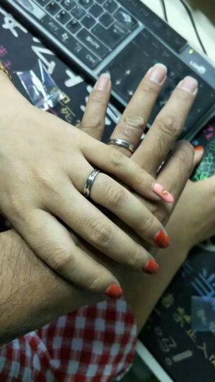 华克(Huake)925纯银莫桑钻石情侣戒指一对 男女款对戒结婚求婚食指女友生日礼物 单枚女戒 圈号-11 晒单图