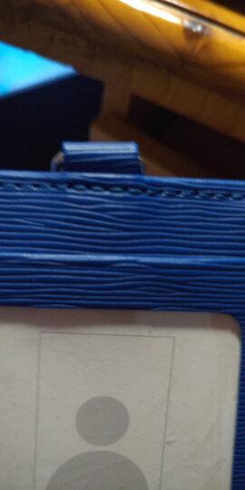 优和(UHOO) 6808 糖果色皮质证件卡套 高端商务推崇 手工精湛  竖式 浅蓝 1个/包 工作证 员工牌 胸卡 晒单图