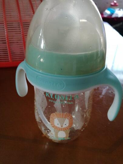 可拉贝拉 婴儿超宽口径奶瓶ppsu材质带吸管手柄防摔奶瓶套装 耐高温防漏无异味 粉色奶瓶280mL配Y孔  送4件套 晒单图