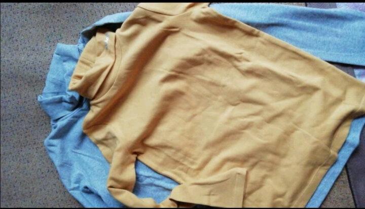 水孩儿童装儿童打底衫春秋新款女童男童高领打底衫儿童纯色打底秋衣长袖T恤衫内搭 粉艾尔-建议拍大一码 160 晒单图