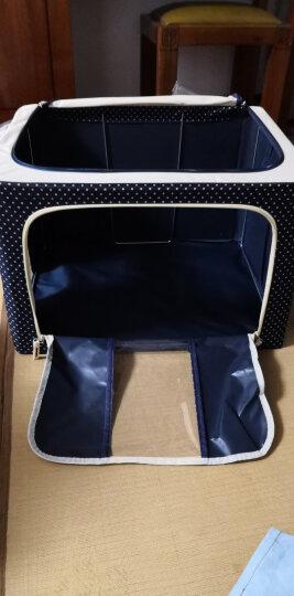 奕辰 收纳箱防水牛津布钢架储物盒66L大号衣服整理箱 咖啡太阳花 晒单图