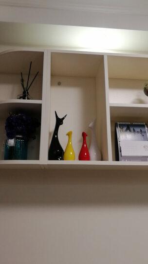 贝汉美(BHM) 景德镇陶瓷摆件工艺品 家居客厅电视柜装饰品玄关红酒架酒柜办公室摆设 麋鹿(四口之家) 晒单图