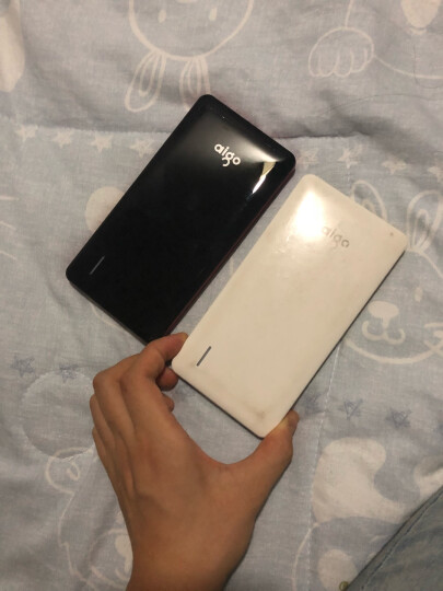 爱国者(aigo)N6充电宝移动电源超薄便携10000毫安聚合物电芯适用于苹果小米 LED强光手电 白色金边 晒单图