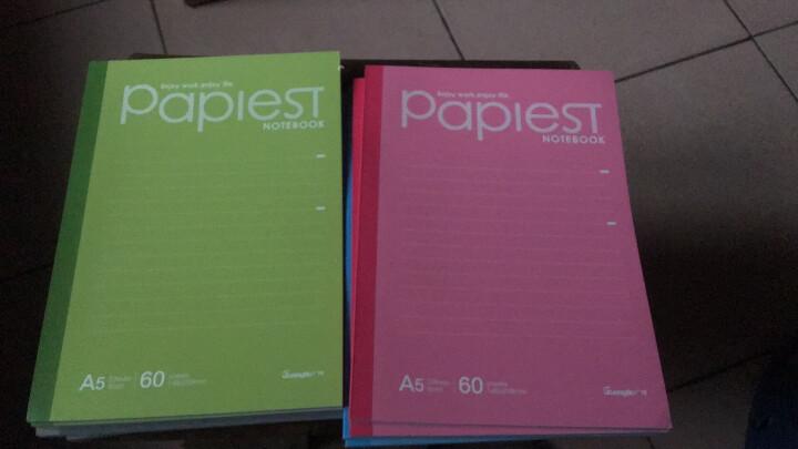 广博(GuangBo)10本装40张A5无线装订本软抄本记事本笔记本子 颜色混装GBR51001 晒单图