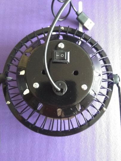 海纳斯 HANASS FS-0612电风扇古铜色USB迷你4寸轻音小风扇便携创意桌面办公风扇 晒单图