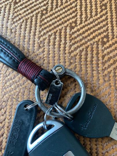 正牌(zobo)汽车钥匙扣羊皮匙绳活动钥匙圈 汽车挂饰商务礼品生日礼物 ZB-930黑色 晒单图