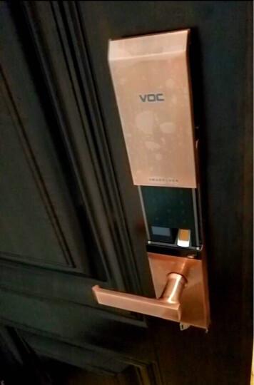 VOC指纹锁家用防盗门密码锁自动门锁木门智能锁定制别墅大门锁半导体指纹电子锁T77F 红古铜+全国联保+免费安装 晒单图