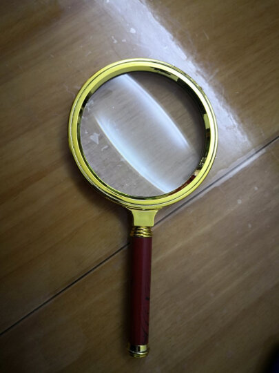 PaulOne 手持放大镜 10倍光学玻璃老人阅读高清放大镜 90厘米直径收藏珠宝鉴定放大镜 MAG90 晒单图