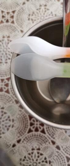 乐儿宝 (bobo)勺子 儿童两用软勺 宝宝碗勺餐具软头勺婴儿勺子辅食(颜色随机) 晒单图