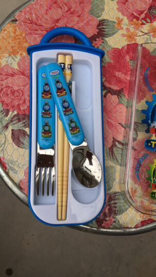 托马斯&朋友(Thomas&Friends)儿童餐具套装宝宝筷子勺子叉子 便携式不锈钢勺叉套组 5237TM 晒单图