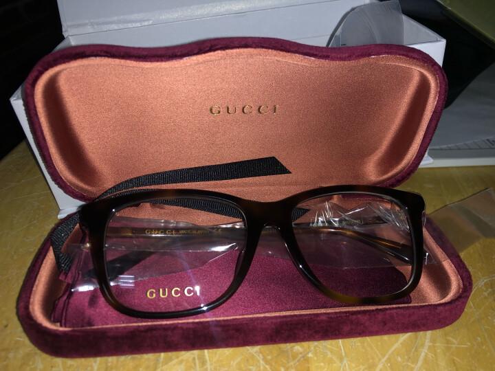 GUCCI 古驰 eyewear 光学镜架 男士全框板材近视眼镜框 GG0018OA-002 哈瓦那镜框 54mm 晒单图