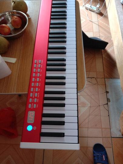 美德威 电钢琴88键 便携式电子钢琴成人儿童专业数码钢琴 MIDWAY乐器 P50 S70 BXII 156棕色+双人琴凳 晒单图