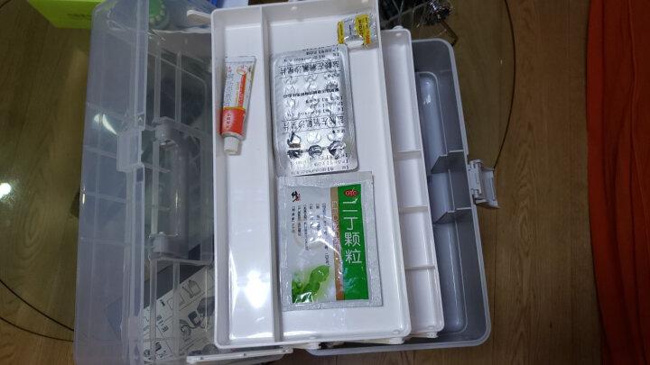 禧天龙Citylong 多功能家用塑料药箱 密封急救箱家庭医药盒子 冰蓝8升 6173 晒单图