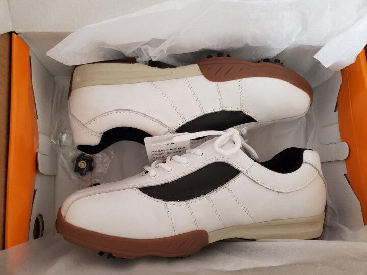 登路普DUNLOP高尔夫球鞋男款真皮运动鞋 男士活动钉 白色41码 晒单图