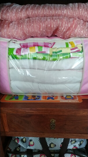 喜家家衣物棉被收纳袋整理袋收纳箱整理箱收纳盒环保透气材质 竖款-米色 晒单图