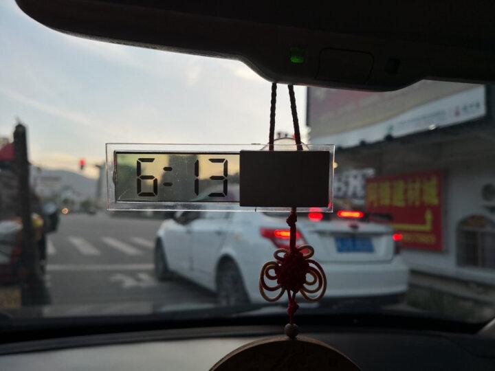 透明吸盘式电子表汽车液晶时钟表车载车内温度温度表汽车用数字电子钟迷你便携式时间装饰新车新款汽车用品 透明 单独电子钟 晒单图
