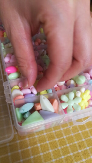 可爱布丁玩具女孩串珠约880粒DIY手工穿珠子儿童过家家玩具益智玩具3-6-8岁生日礼物 大24格春暖花开 晒单图
