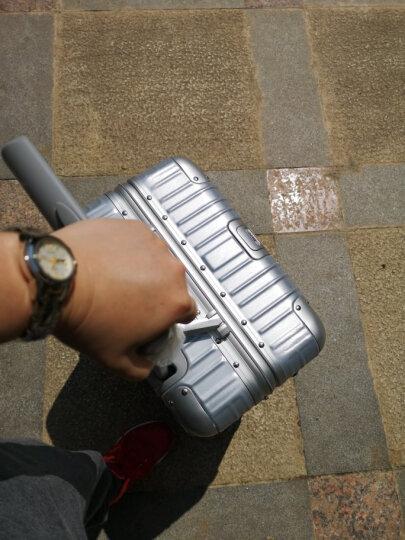 【一体化铝框 12万好评】EAZZ铝框拉杆箱万向轮行李箱男女士登机箱20寸24寸28寸旅行箱26定制 高端 铝框-银色 20英寸-登机箱(热卖) 晒单图