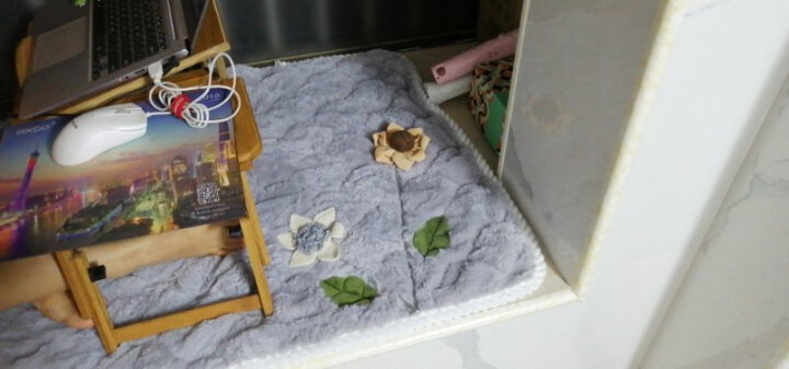 喜至家纺 烫金桌布软玻璃塑料餐桌垫欧美现代简约客厅茶几防水防油台布加厚透明防烫水晶板 大格太阳花 40*50cm 晒单图