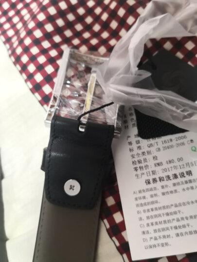 Samsonite/新秀丽男士皮带进口头层牛皮腰带时尚针扣商务休闲裤腰带TK2 黑色 120CM 晒单图