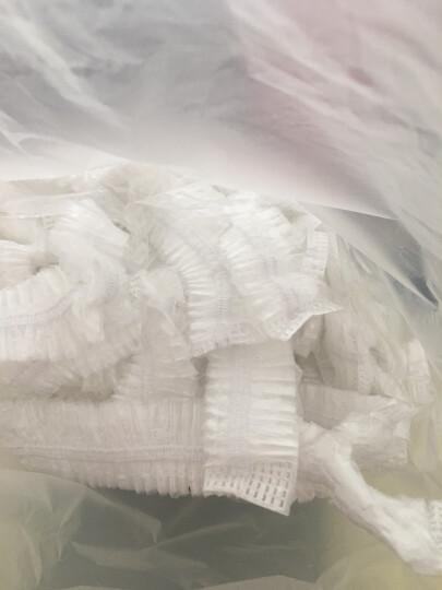 一踏鹏程 一次浴帽 儿童防水透明浴帽防油烟帽男 女酒店宾馆洗澡淋浴头套 塑料防尘帽100只装 白色塑料帽 5送1 晒单图