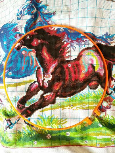 虎薇刺绣十字绣工具圈圈 绣架绣圈绣绷 2个绣圈架子布架 晒单图