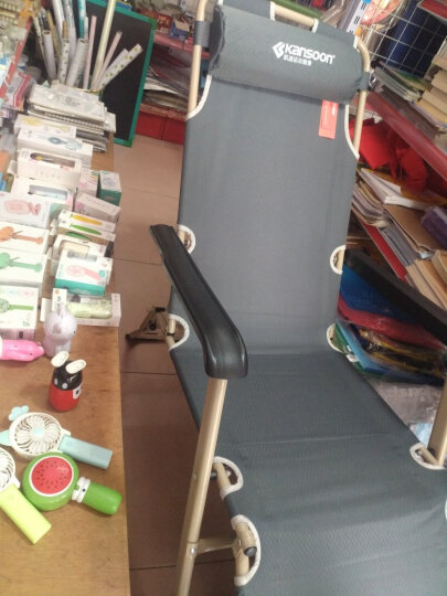 凯速 午休折叠椅床 陪护床 单人午睡折叠床 户外躺椅  (单方管47cm宽+带棉垫) FC33灰色 晒单图