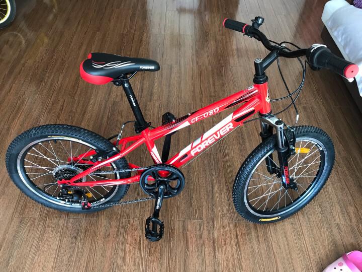 永久(FOREVER) 永久儿童自行车6速变速20寸山地车铝合金刀圈山地自行车080型 黑橙色 20吋 晒单图