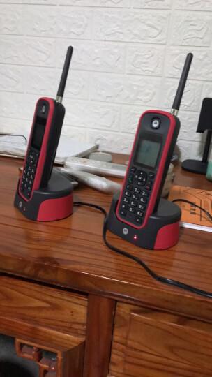 摩托罗拉(Motorola)远距离数字无绳电话机 无线座机 子母机单机 办公家用 中英文可扩展别墅定制 O201C(红色) 晒单图