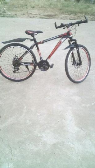 森林狼 山地车 高碳钢21速/24速26寸 学生男女单车山地自行车男双碟刹 新款变速自行车男 26寸-黑红 21速-高配 晒单图