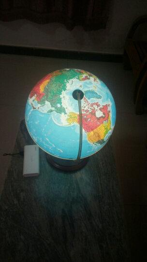 博目地球仪:32CM地形/政区中,英文灯光地球仪(木座合金架)11-32-01 晒单图