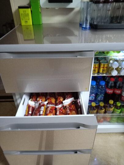 尊贵(ZUNGUI) BCD-210CV 210升 卧式冰箱家用抽屉柜式小型双门橱柜式嵌入式矮电冰箱 荷韵金 晒单图