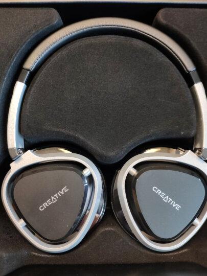 创新(Creative)Aurvana Live2耳机头戴式可拆卸线控耳机 折叠覆耳耳麦 生物纤维 运动重低音音乐耳机 黑色 晒单图