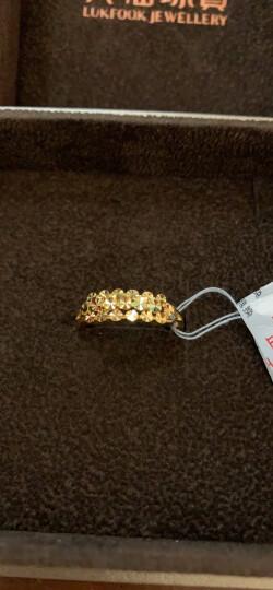 六福珠宝 足金车花黄金开口戒指女戒活口戒 计价  B01TBGR0003 3.45克(含工费121元) 晒单图
