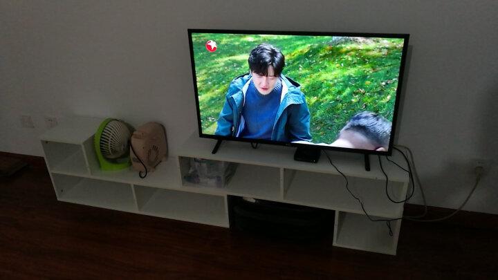 美达斯 电视柜 简约可伸缩L型电视柜 收纳架子玄关隔断柜子 黑色 13126 晒单图
