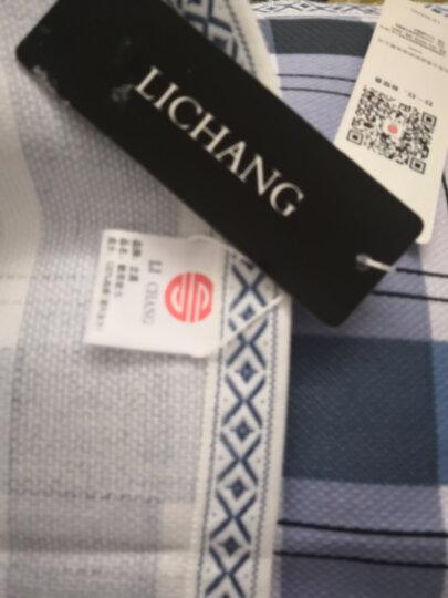 LICHANG枕巾 纯棉一对 2条装 枕巾家纺 帆布枕巾 按摩透气 老粗布枕巾包邮 格子蓝 75cm*50cm(一对枕巾) 晒单图