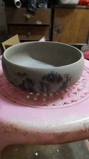 瓷牌茗粗陶特大号茶洗陶瓷青花瓷水洗碗杯笔洗玻璃茶杯碗水盂功夫茶具茶道配件栽种水植花盆果盆 荷花高白茶洗-中号(8寸) 晒单图