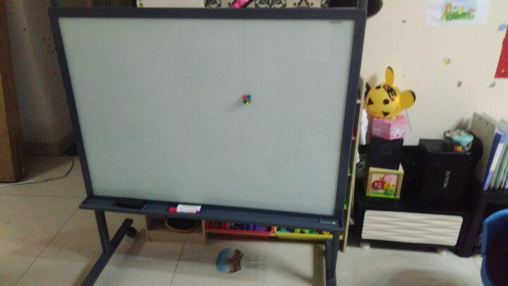 得力(deli)支架式白板 120*90cm H型磁性钢化玻璃带架子白板办公会议写字板黑板8738 晒单图