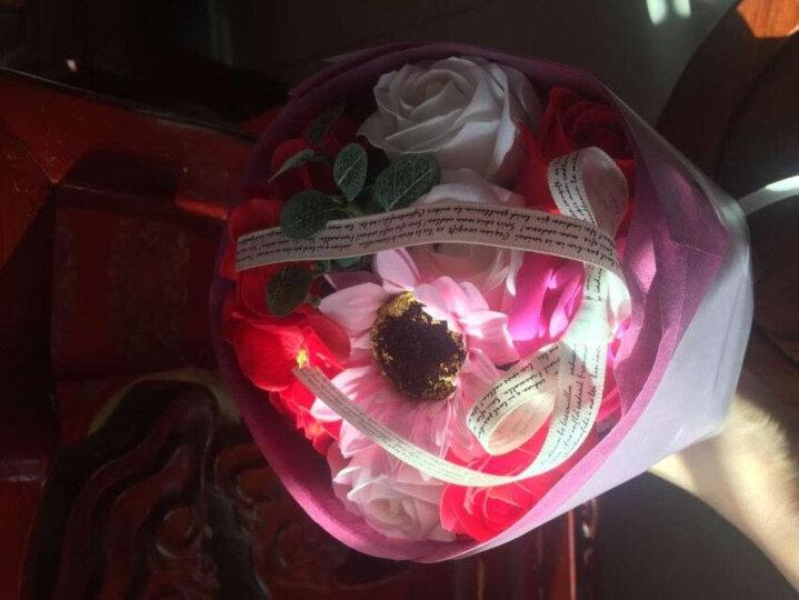 元旦礼物 生日礼物送女友 鲜花永生花玫瑰花香皂花礼盒装浪漫花束 仿真花送女生女朋友老婆节日礼物 手捧仿真花红色 晒单图