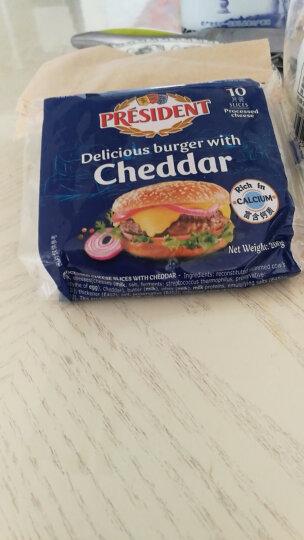 总统(President)汉堡专用奶酪片 200g(再制干酪) 晒单图