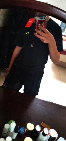 李宁(LI-NING)运动服套装男女健身服短袖短裤篮球服跑步速干衣瑜伽服紧身衣裤干爽舒适 男款三件套(蓝色短袖+短裤+紧身裤) XXXL 晒单图