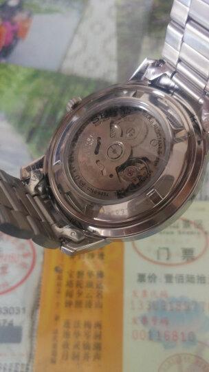 精工(SEIKO)手表 日本原装进口SEIKO5号系列双日历白盘钢带商务自动机械男表SNKM83J1 晒单图