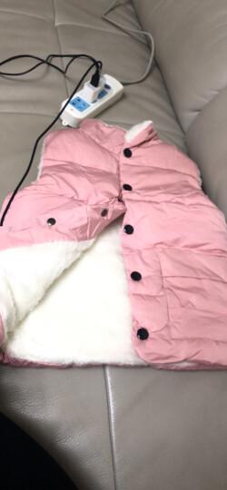 翼皇 儿童棉马甲背心2019秋冬新款宝宝男女童马夹童装上衣潮洋气时髦 黄色 130cm 晒单图