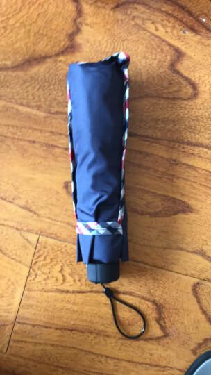 天堂伞 三折晴雨伞黑胶防晒太阳伞遮阳伞商务伞 包边黑色307E升级款 晒单图